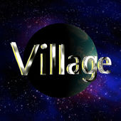 Galaxy Village — Stock Photo