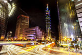 Night view of Taipei 101 — Stock Photo