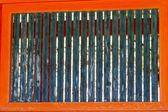 Ventana de madera ancho rústico — Foto de Stock