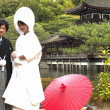 Japanese traditional wedding costum — Stock Photo