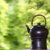 Bule de chá com bom fundo — Fotografia Stock