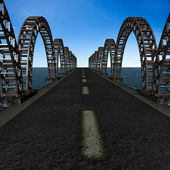 The view of old bridge — Stock Photo
