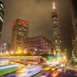 Nice night view of Taipei city — Stock Photo