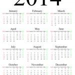 2014 calendar — Stock Photo #29886927