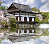 Nice view with temple at Japan — Stock Photo