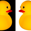 Rubber duck icon — Stock Photo