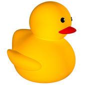 橡胶鸭子图标 — 图库照片