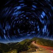 High mountain night view — Stock Photo
