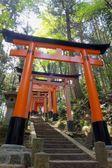 Close-up of Torii gates at Fushimi Inari Shrine in Kyoto, Japan.Fushimi Inari Shrine — Stock Photo