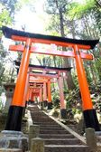 Close-up of Torii gates at Fushimi Inari Shrine in Kyoto, Japan.Fushimi Inari Shrine — Stock fotografie