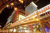 La vista nocturna de la ciudad de taipei — Foto de Stock