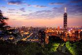 Panoramę dzielnicy xinyi w stygnie — Zdjęcie stockowe