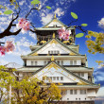 Osaka Castle in Osaka, Japan. — Stock Photo #40666505