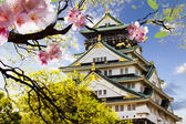 Osaka Castle in Osaka, Japan. — Stock Photo