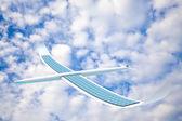 Solar energy airplane — Stock Photo