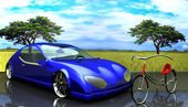 Non-branded generic concept car — Stock Photo