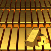 Set of gold bars — Stock Photo
