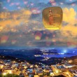 Sky lantern in Lantern Festival — Stock Photo #47107275