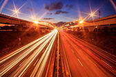 City highway at night with ligh — Stock Photo