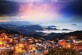 The seaside mountain town — Stock Photo