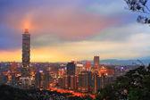 Taipei Taiwan city skyline buildings with Taipei 101 — Stock Photo