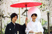 Celebration of a typical wedding in Japan — Foto Stock