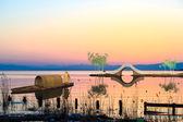Nice river sunset — Stock Photo