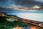 Sunset road on the coast of the west Taiwan — Stock Photo