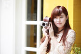 Beauty Romantic Girl Outdoors — Stock Photo