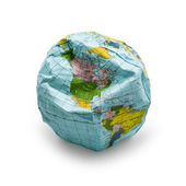 Deflated globe — Stock Photo