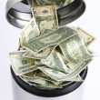 Stock Photo: DOLLARS BIN