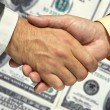 Two businessmen shaking hands — Stock Photo #15807887