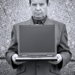 Money-maker with laptop — Stock Photo #15808341