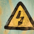 Danger sign(special photo fx,focus on center) — Stock Photo #15809137