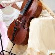 Cello musician — Stock Photo