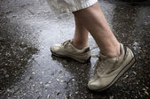 Rainy day walking — Stock Photo