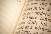 Tekst biblii — Zdjęcie stockowe