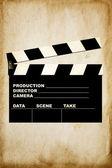 Movie clapper — Stock Photo