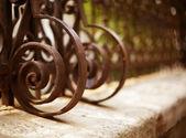 Detalle de valla de hierro forjado — Foto de Stock