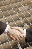 Architect handshake — Stock Photo