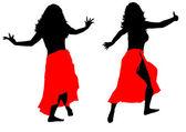 Female dance — Stock Photo