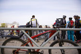 Bicycle race in Samara (Russia) — Stock Photo