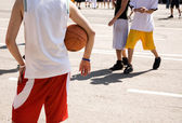 Street basketball — Stock Photo