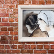 Art on a wall — Stock Photo