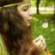 Hippy girl — Stock Photo