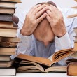Tired reader - Stock Photo