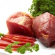 Foto de Stock  : Greens and meat