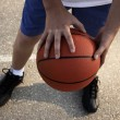 Stock Photo: Sportsmwith baskeball