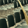 Stock Photo: Besom and chairs