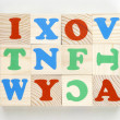 Bricks alphabet kit — Stock Photo